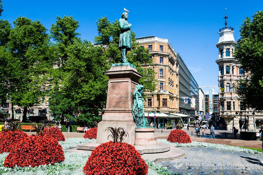 Finland, Helsinki. The Esplanadi park.