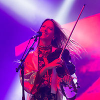Vocalist Cato van Dijck plays the violin with her Dutch-New Zealand band My Baby at their concert on the A38 Stage at Sziget Festival held in Budapest, Hungary on Aug. 13, 2018. ATTILA VOLGYI
