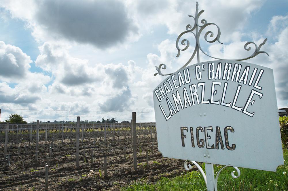 sign ch gd barrail lamarzelle figeac saint emilion bordeaux france