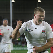 Chris Ashton, England, celebrates after scoring a try during the England V Georgia Pool B match at the IRB Rugby World Cup tournament. Otago Stadium, Dunedin New Zealand, 18th September 2011. Photo Tim Clayton...