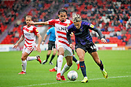 Luton Town forward Harry Cornick (14) on the attack during the EFL Sky Bet League 1 match between Doncaster Rovers and Luton Town at the Keepmoat Stadium, Doncaster, England on 8 September 2018.