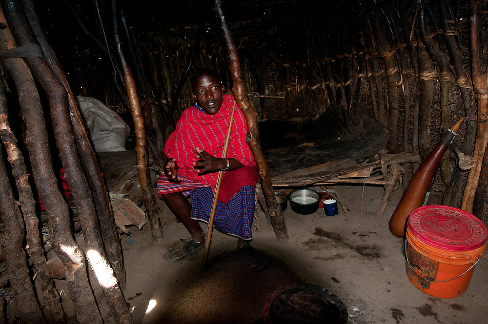 Inside the Maasai house