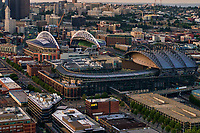 Safeco Field (foreground) & CenturyLink Field (Home of the Mariners & Seahawks, resp.)