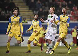 February 17, 2018 - Leuven, BELGIUM - OHL's Julien Gorius misses a penalty during a soccer game between OH Leuven and KFCO Beerschot Wilrijk, in Heverlee, Leuven, Saturday 17 February 2018, on day 27 of the division 1B Proximus League competition of the Belgian soccer championship. BELGA PHOTO JOHN THYS (Credit Image: © John Thys/Belga via ZUMA Press)