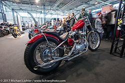 G Garage's 1964 custom Harley-Davidson Ironhead Sportster in the Low Ride custom bike show during the Motor Bike Expo. Verona, Italy. Sunday January 22, 2017. Photography ©2017 Michael Lichter.