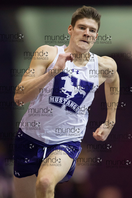 Jordan Mabbott of the Western Mustangs competes at the 2017 Don Wright Meet in London, Ontario, January 21, 2017.<br /> Photo by GEOFF ROBINS/ Mundo Sport Images