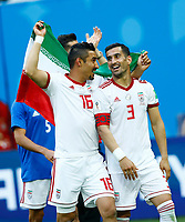 Reza Ghoochannejhad (Iran) and Ehsan Haji Safi (Iran) celebration<br /> Saint Petersburg 15-06-2018 Football FIFA World Cup Russia  2018 <br /> Morocco - Iran / Marocco - Iran <br /> Foto Matteo Ciambelli/Insidefoto