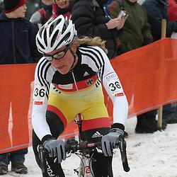Hanka Kupfernagel weltmeister Querfeldein Frauen 2005, Hanka Kupfernagel Worldchampion cyclocross women 2005; Hanka Kupernagel wereldkampioen veldrijden vrouwen 2005