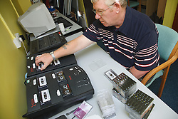 Man who has lost use of arm due to a stroke, running an audio duplicating service, helped into employment by the Ready 4 Work team, Nottinghamshire County Council