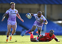 Rugby Union - 2019 / 2020 Heineken Cup - Semi-final - Exeter Chiefs vs Toulouse<br /> <br /> Exeter Chiefs' Tom O'Flaherty evades the tackle of Toulouse's Pita Ahki, at Sandy Park.<br /> <br /> COLORSPORT/ASHLEY WESTERN