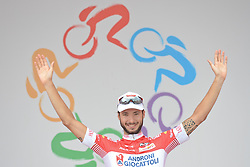 September 16, 2016 - Wuhan, China - Italian cyclist Mattia De Marchi from Androni Giocattoli wins the 2016 Tour of China 1..On Friday, 16 September 2016, in Xinzhou, Wuhan , China. (Credit Image: © Artur Widak/NurPhoto via ZUMA Press)