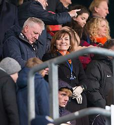 Lorraine Kelly, celebrity Dundee Utd fan. Falkirk 3 v 0 Dundee United, Scottish Championship game played 11/2/2017 at The Falkirk Stadium.