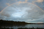 Essiquibo River & Rainbow<br /> Rain Forest<br /> Iwokrama Reserve<br /> GUYANA<br /> South America