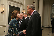 Russian Ambassador HE Yuri Fedolov, Dr. Deborah Swallow and Prof Mikhail Piotrovsky. France in Russia:  Empress Josephine's Malmaison Collection. Hermitage Rooms, Somerset House. London. 23 July 2007.   -DO NOT ARCHIVE-© Copyright Photograph by Dafydd Jones. 248 Clapham Rd. London SW9 0PZ. Tel 0207 820 0771. www.dafjones.com.