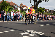 London, UK. Wednesday 1st August 2012. The Men's Individual Time Trial cycling event passes through Twickenham on route to find the fastest male cyclist. Rider Luis Leon Sanchez Gil of Spain.