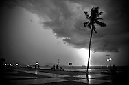 A storm is coming over Nha Trang, Vietnam, Asia