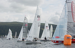 Caledonia MacBrayne Largs Regatta Week 2016<br /> <br /> Dinghy class start with Robbie Burns and Victoria Simpson, RS200<br /> <br /> Credit Marc Turner / PFM Pictures.co.uk