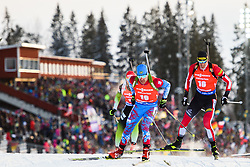 March 10, 2019 - –Stersund, Sweden - 190310 Evgeniy Garanichev of Russia and Julian Eberhard of Austria during the Men's 12,5 km Pursuit during the IBU World Championships Biathlon on March 10, 2019 in Östersund..Photo: Petter Arvidson / BILDBYRÃ…N / kod PA / 92255 (Credit Image: © Petter Arvidson/Bildbyran via ZUMA Press)