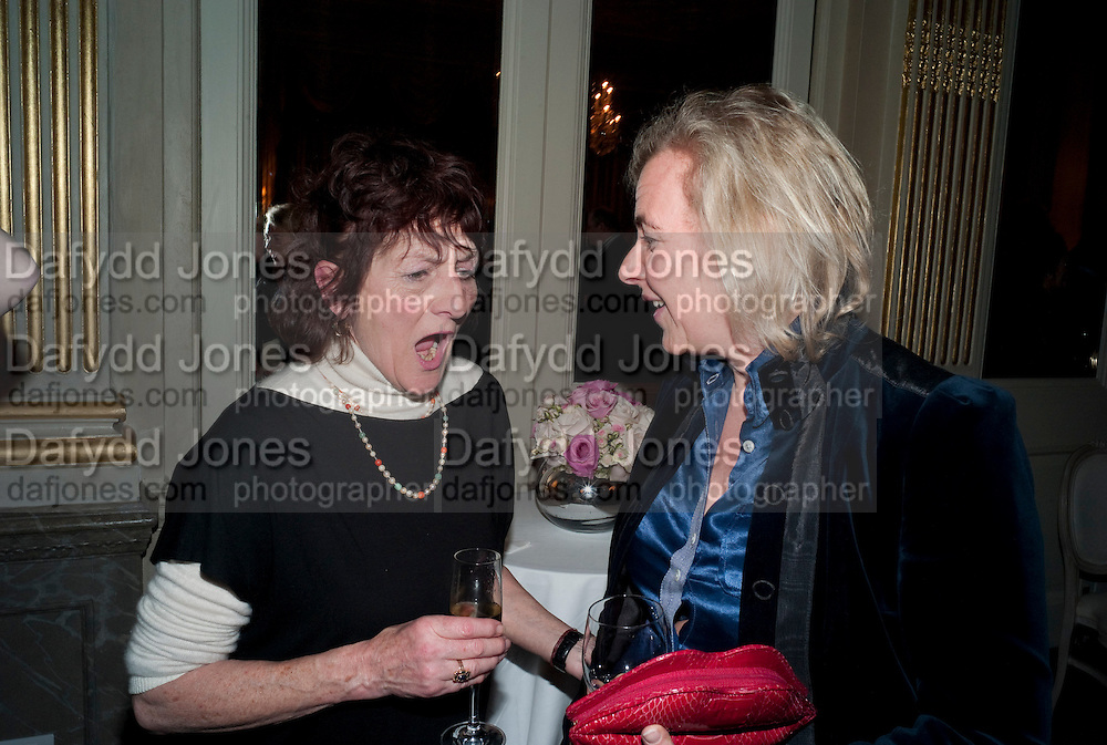 JANE ORMSBY-GORE; COUNTESS DORA DELLA GHEREDESCA, The Dowager Duchess od Devonshire and Catherine Ostler editor of the Tatler host a party to celebrate Penguin's reissue of Nancy Mitford's ' Wigs on the Green.'  The French Salon. Claridge's. London. 10 March 2010.