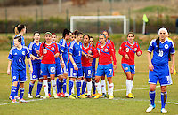 Fifa Womans World Cup Canada 2015 - Preview //<br /> Istria Cup 2015 Tournament ( Stella Maris Stadium , Umag - Croatia ) - <br /> Costarica vs Bosnia & Herzegovina 1-0  , <br /> Costarica and Bosnia & Herzegovina , Players during the Free-Kick