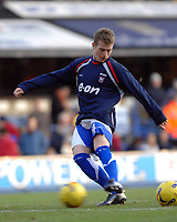 Photo: Ashley Pickering.<br />Ipswich Town v Birmingham City. Coca Cola Championship. 01/01/2007.<br />Ipswich Town youngster, Billy Clarke warms up before the match