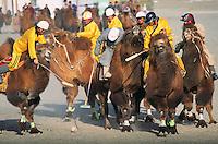 Mongolie. Desert de Gobi. Region de Dalanzadgad. Village de Moron. Festival des chameaux. Nouvel an Mongol. Tournoi de polo. // Mongolia. Gobi desert. Dalanzadgad area. Moron village. Camel festival. Mongolian new year. Polo tournament