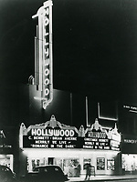 1938 The Hollywood Theater on Hollywood Blvd.