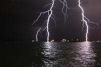 Lightning Over the Gulf of Iskenderun, Turkey