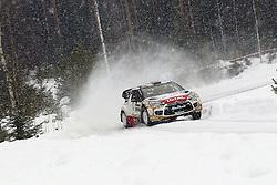 13.02.2015, Karlstad, Karlstad, SWE, FIA, WRC, Schweden Rallye, im Bild Mads Ostberg/Jonas Andersson (Citroen Total Abu Dhabi WRT/DS3 WRC) // during the WRC Sweden Rallye at the Raga in Karlstad in Karlstad, Sweden on 2015/02/13. EXPA Pictures © 2015, PhotoCredit: EXPA/ Eibner-Pressefoto/ Bermel<br /> <br /> *****ATTENTION - OUT of GER*****