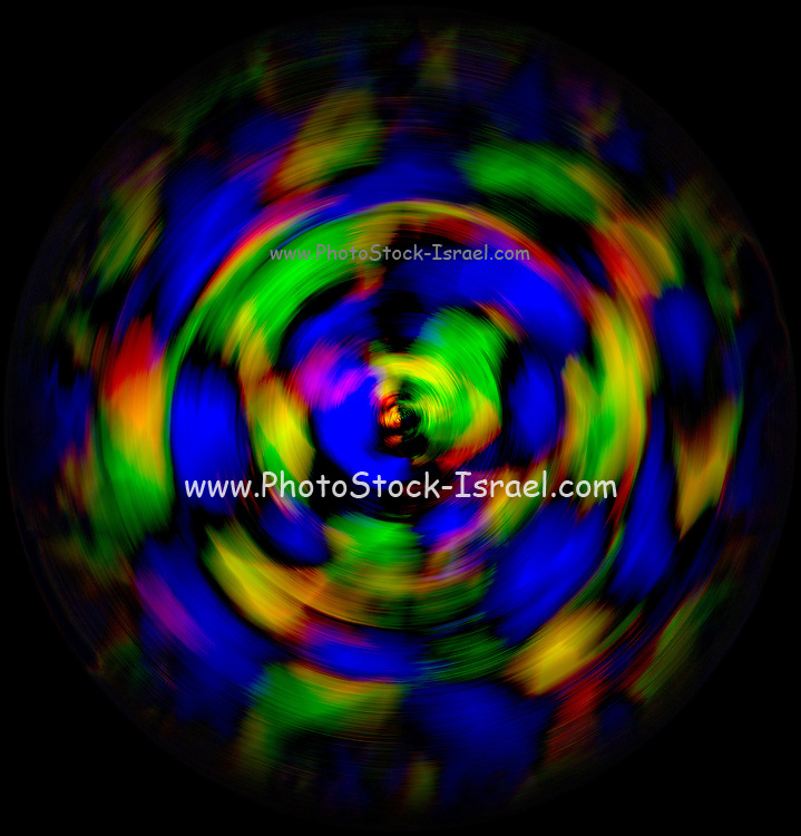 Digitally enhanced image abstract twirl background