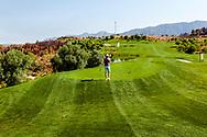 26-07-2016 Foto's persreis Golfers Magazine met Pin High naar Alicante en Valencia in Spanje. <br /> Foto: La Galiana - hole 2 La Cima - De top.