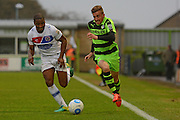 Forest Green Rovers midfielder Elliott Frear (11) on the attack 1-1 during the Vanarama National League match between Forest Green Rovers and Dagenham and Redbridge at the New Lawn, Forest Green, United Kingdom on 29 October 2016. Photo by Alan Franklin.