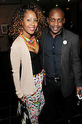 May 10, 2016- New York, NY: United States: (L-R) Sade Lythcott, National Black Theater and Visual Artist Hank Willis Thomas attend the Aperture Magazine Launch for the Vision & Justice Issue held at the Ford Foundation on May 10, 2016 in New York City.  Aperture, a not-for-profit foundation, connects the photo community and its audiences with the most inspiring work, the sharpest ideas, and with each other—in print, in person, and online. (Terrence Jennings/terrencejennngs.com)