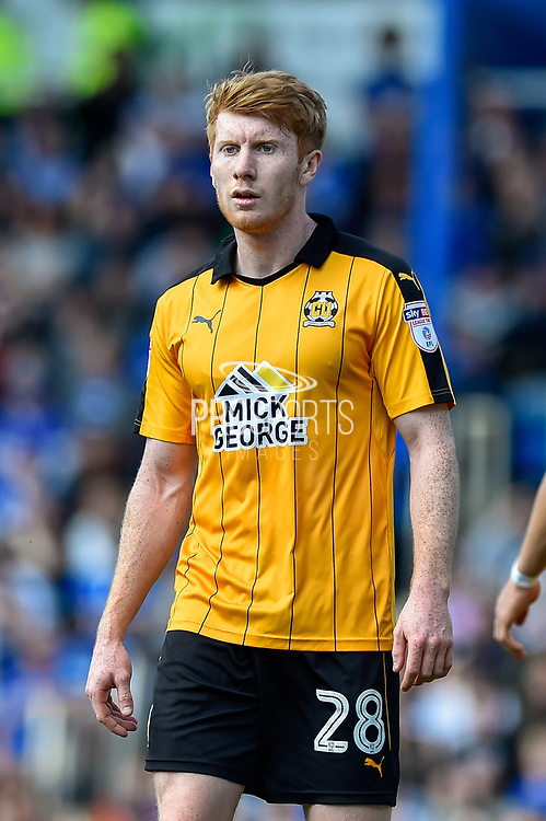 Cambridge United Defender, Brad Halliday (28) during the EFL Sky Bet League 2 match between Portsmouth and Cambridge United at Fratton Park, Portsmouth, England on 22 April 2017. Photo by Adam Rivers.