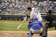 CHICAGO - JUNE 20:  Adam Dunn #32 of the Chicago White Sox swings and misses at a pitch for a strike out against the Chicago Cubs on June 20, 2011 at U.S. Cellular Field in Chicago, Illinois.  The Cubs defeated the White Sox 6-3.  (Photo by Ron Vesely)  Subject:  Adam Dunn