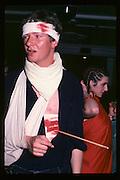 Steven Bremner at Piers Gaveston Ball. Oxford Town Hall. 1981 approx© Copyright Photograph by Dafydd Jones 66 Stockwell Park Rd. London SW9 0DA Tel 020 7733 0108 www.dafjones.com