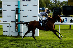 Amorously ridden by Pat Dobbs trained by Richard Hannon wins the The Bristol Water Fillies' Handicap Stakes (Class 5) - Mandatory by-line: Robbie Stephenson/JMP - 04/09/2019 - PR - Bath Racecourse - Bath, England - Bath Races