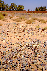 An old abandoned Jewish cemetery in Beni Hayoun, Morocco.  Graves are simply marked with a pile of stones<br /> <br /> (c) Andrew Wilson | Edinburgh Elite media