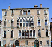 The Palazzo Bernardo, a palace on the Grand Canal in Venice, Italy. Built in the 15th century.