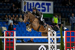 Delestre Simon, FRA, Cairon 10<br /> Stuttgart - German Masters 2018<br /> © Hippo Foto - Stefan Lafrentz