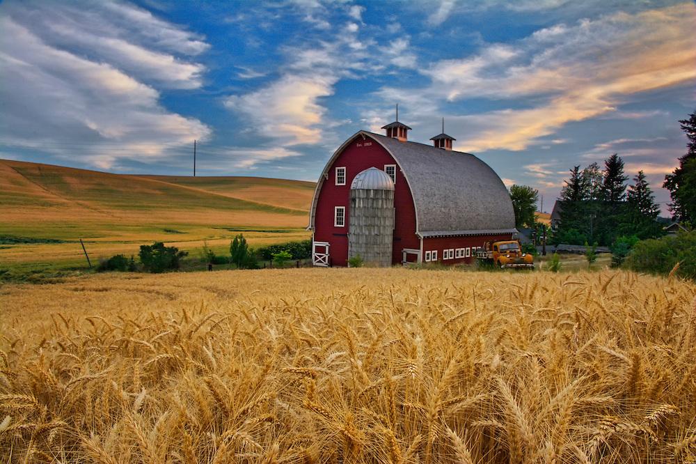 Red Barn, Wheat Fields, WA.