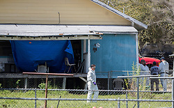 Federal agents continue to investigate the home of the Austin Bomber suspect in Pflugerville, TX, USA Thursday, March 22, 2018. Photo by Ricardo B. Brazziell/Austin American-Statesman/TNS/ABACAPRESS.COM