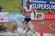 Alex Howard competing in the Men's 3000m Steeplechase race Final.The British Championships 2016, athletics event at the Alexander Stadium in Birmingham, Midlands  on Saturday 25th June 2016.<br /> pic by John Patrick Fletcher, Andrew Orchard sports photography.
