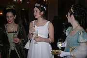 Alice Collins and Roisin Stimpson. The St. Petersburg Ball, In aid of the Children's Fire and Burn Trust-Russia 2005.  The Cafe Royal. 3 February 2006. -DO NOT ARCHIVE-© Copyright Photograph by Dafydd Jones 66 Stockwell Park Rd. London SW9 0DA Tel 020 7733 0108 www.dafjones.com