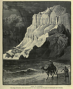 Jebel El Markha This ridge of limestone, about nine hundred feet high, separates the two plains of El Markheyeh and El Markha. Wood engraving of from 'Picturesque Palestine, Sinai and Egypt' by Wilson, Charles William, Sir, 1836-1905; Lane-Poole, Stanley, 1854-1931 Volume 4. Published in 1884 by J. S. Virtue and Co, London