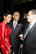 January 30, 2017-New York, New York-United States: (L-R) Media Personality Tamron Hall, Rev. Dr. Al Sharpton and Rev. Dr. Michael Eric Dyson backstage during the National Cares Mentoring Movement 'For the Love of Our Children Gala' held at Cipriani 42nd Street on January 30, 2017 in New York City. The National CARES Mentoring Movement seeks to dispel that notion by providing young people with role models who will play an active role in helping to shape their development.(Terrence Jennings/terrencejennings.com)