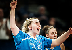 Teja Gorsic of Slovenia during basketball match between Women National teams of Belgium and Slovenia in the Qualification for the Quarter-Finals of Women's Eurobasket 2019, on July 2, 2019 in Belgrade Arena, Belgrade, Serbia. Photo by Vid Ponikvar / Sportida