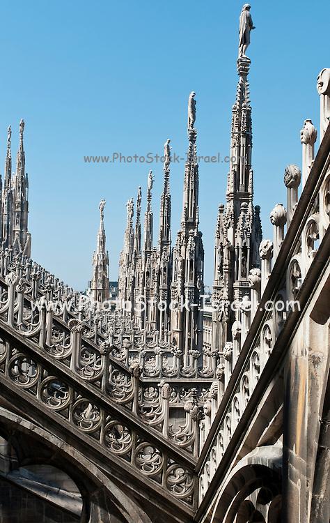 Milan cathedral, Duomo di Milano, marble facade with spires