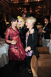 Left to right, PEARL LOWE, PAM HOGG and JAIME WINSTONE at a party to celebrate the 135th anniversary of The Criterion restaurant, Piccadilly, London held on 2nd February 2010.