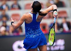 October 6, 2018 - Anastasija Sevastova of Latvia in action during her semi-final match at the 2018 China Open WTA Premier Mandatory tennis tournament (Credit Image: © AFP7 via ZUMA Wire)